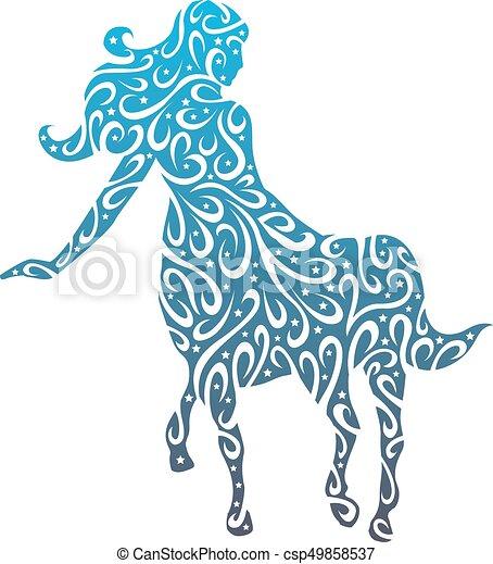 stylizowany, centaur - csp49858537