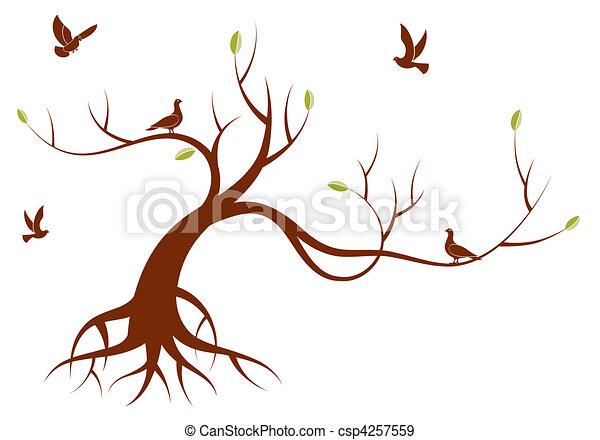 stylizowany, drzewo - csp4257559
