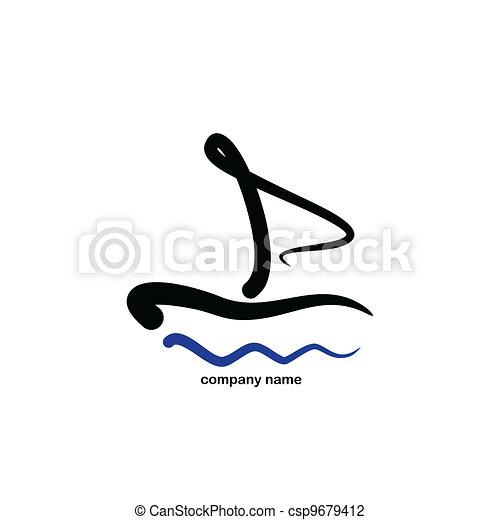 stylizowany, logo, -, nawigacja - csp9679412