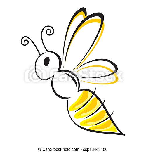 stylizowany, pszczoła - csp13443186