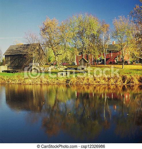 suédois, -, site, historique, minnesota - csp12326986