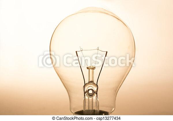 su, chiaro, chiudere, bulbo, luce - csp13277434
