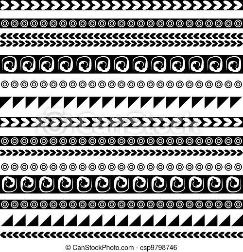 Ornamento étnico sin costura para su diseño - csp9798746