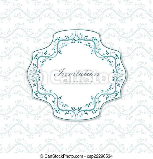 Una invitación romántica para tu diseño - csp22296534