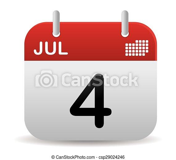 su, stare in piedi, luglio, calendario - csp29024246