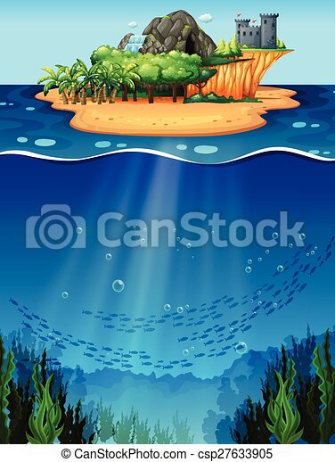 subacqueo, isola - csp27633905