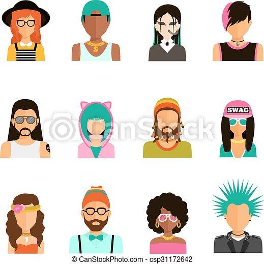 Subculture People Portraits Set - csp31172642