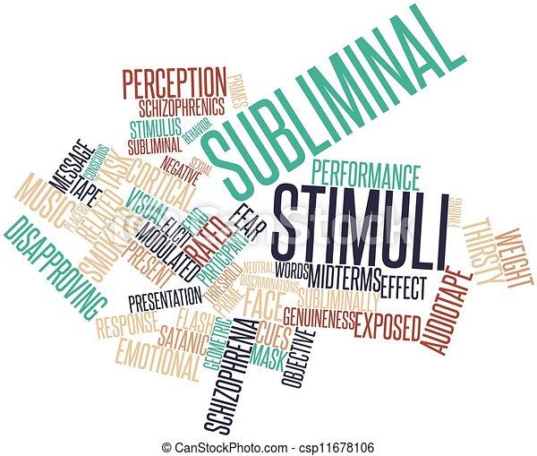 Subliminal stimuli - csp11678106