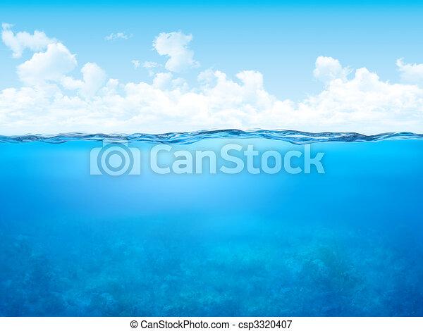 submarinas, waterline, fundo - csp3320407