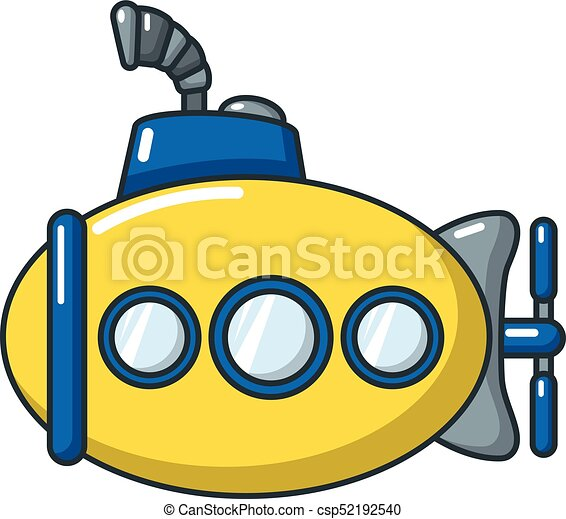 submarine funny icon cartoon style submarine funny icon eps rh canstockphoto ie submarine clipart png submarine clip art black and white