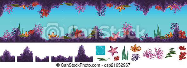 Una cueva subterránea - csp21652967