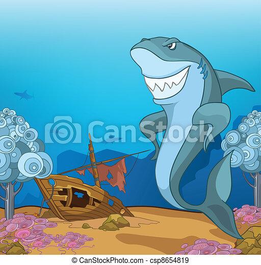 Mundo submarino del océano - csp8654819