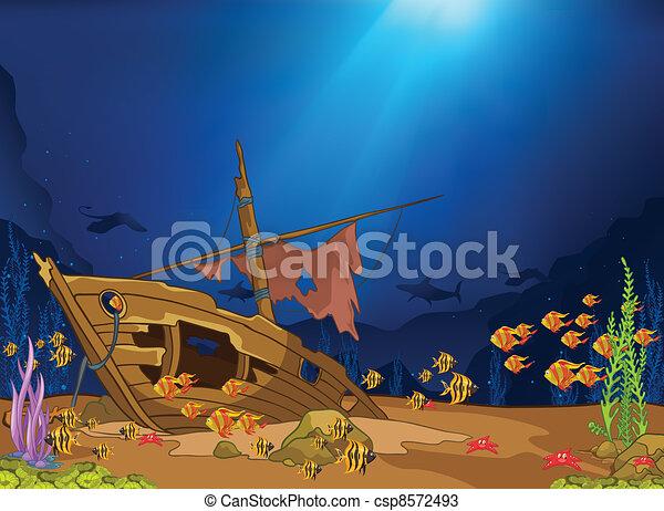 Mundo submarino - csp8572493