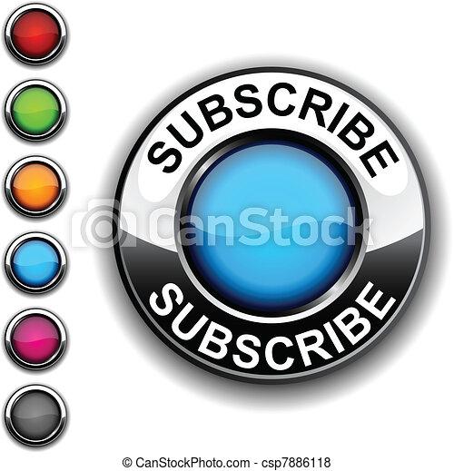 Subscribe  button. - csp7886118