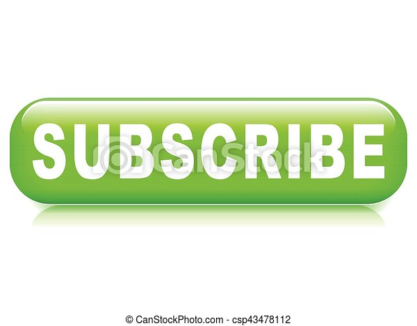 subscribe button on white background - csp43478112