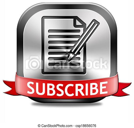 subscribe button - csp18656076