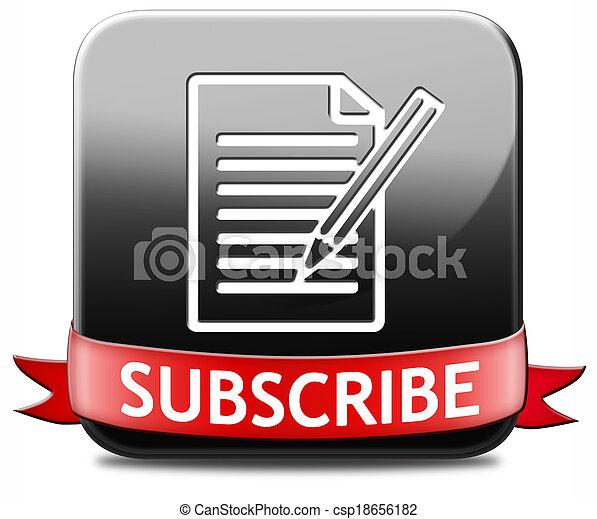 subscribe button - csp18656182