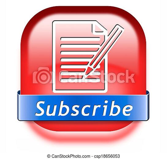 subscribe button - csp18656053