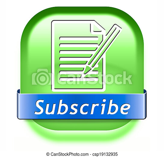 subscribe button - csp19132935