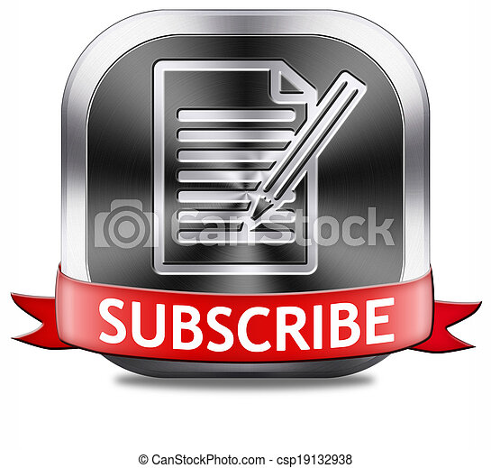 subscribe button - csp19132938