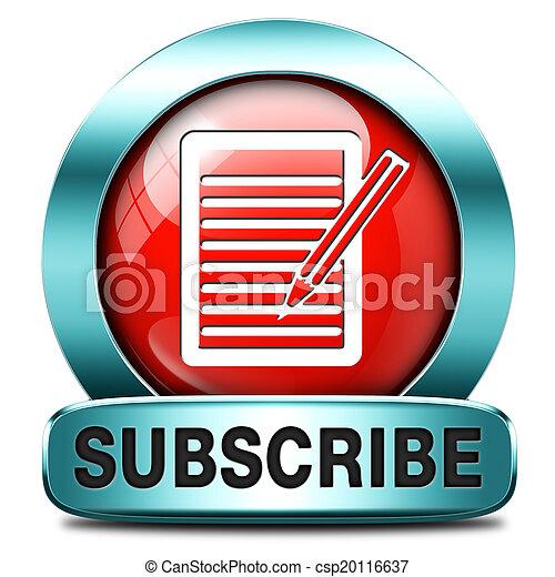 subscribe button - csp20116637