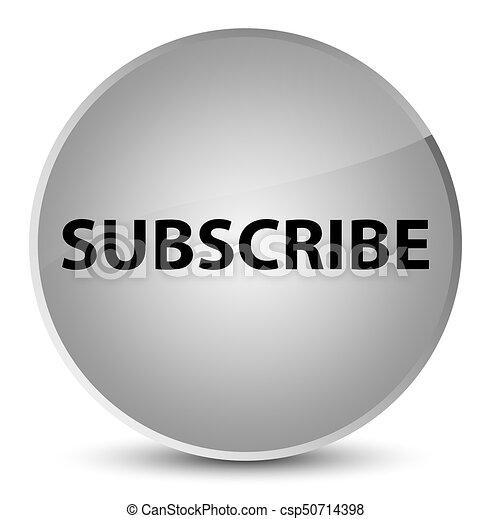 Subscribe elegant white round button - csp50714398