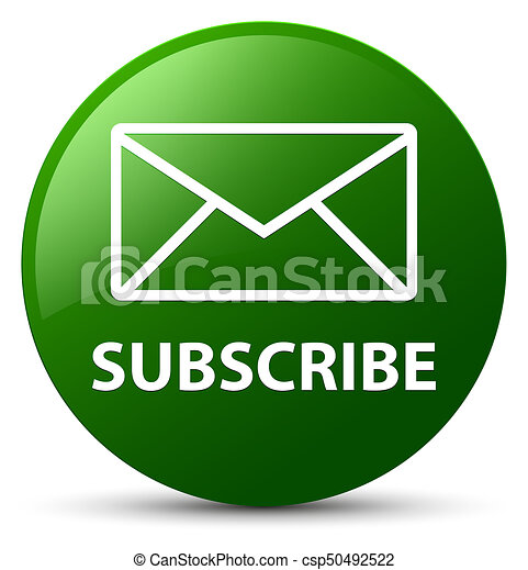 Subscribe (email icon) green round button - csp50492522