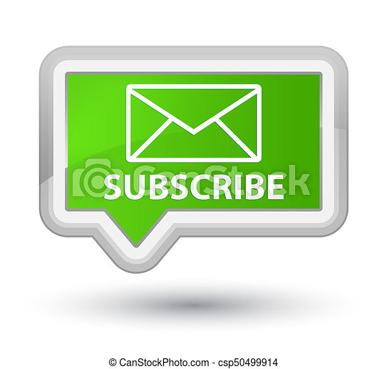 Subscribe (email icon) prime soft green banner button - csp50499914