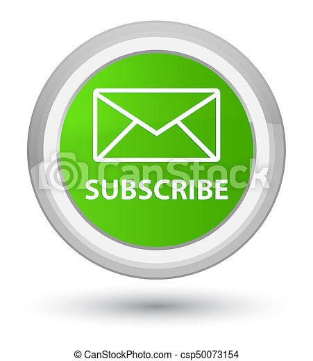 Subscribe (email icon) prime soft green round button - csp50073154