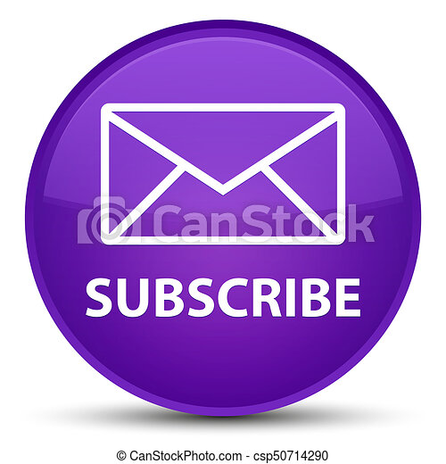 Subscribe (email icon) special purple round button - csp50714290