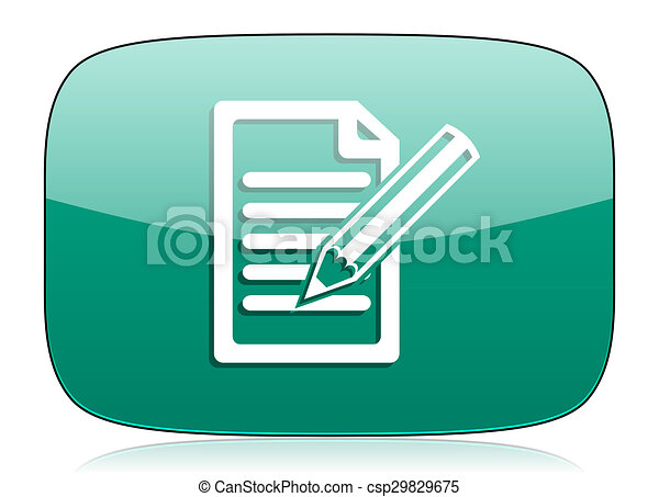 subscribe green icon write sign - csp29829675