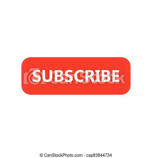 Subscribe icon button design - csp83844734