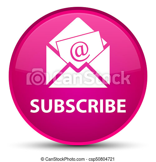 Subscribe (newsletter email icon) special pink round button - csp50804721