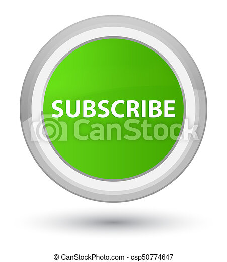 Subscribe prime soft green round button - csp50774647