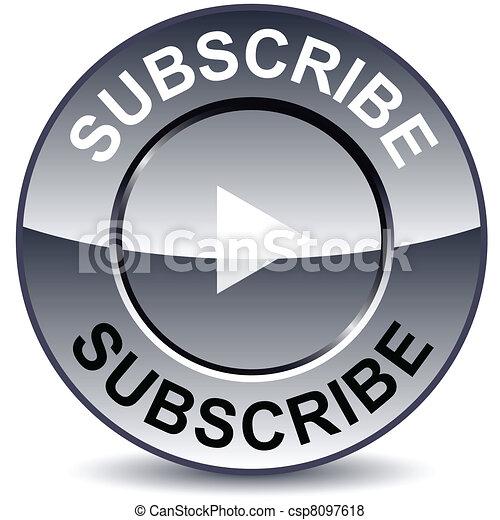 Subscribe round button. - csp8097618