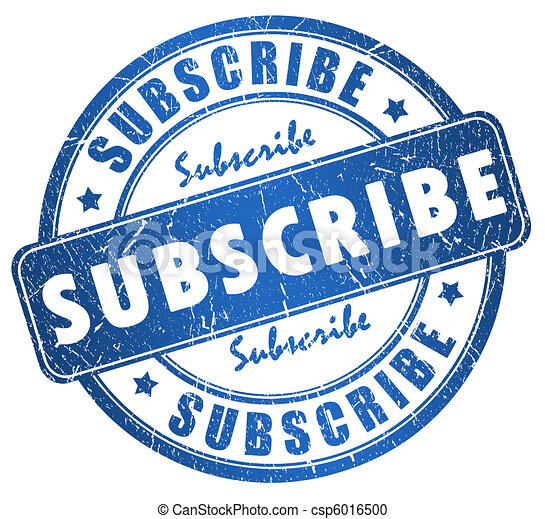 Subscribe stamp - csp6016500