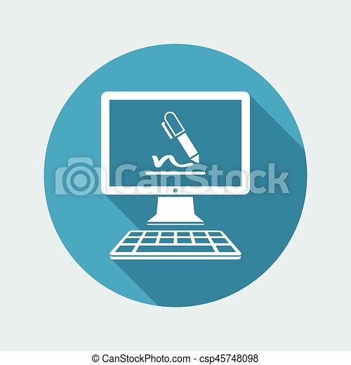 Subscribe terms and conditions - Vector flat icon - csp45748098