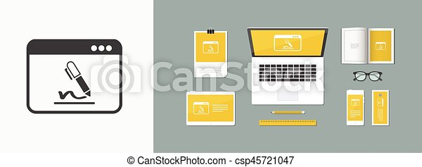 Subscribe terms and conditions - Vector flat icon - csp45721047