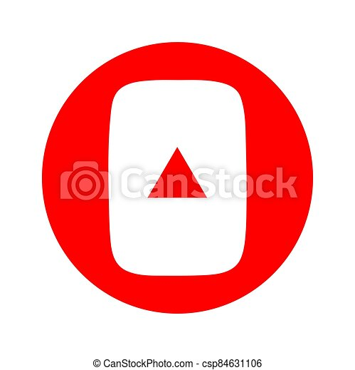 Subscribe web button, social media icon vector illustration, internet website symbol, isolated sign - csp84631106