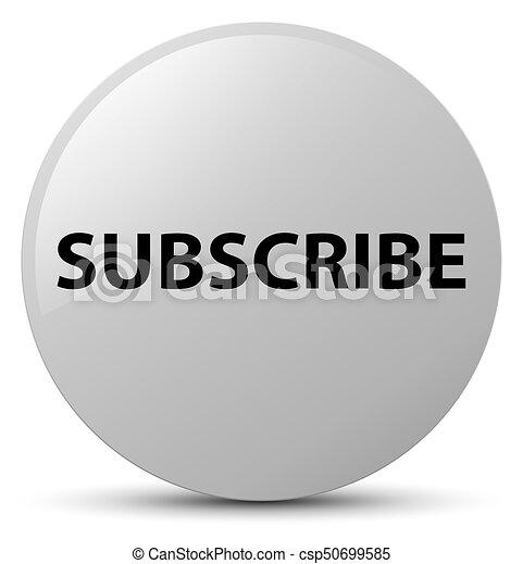 Subscribe white round button - csp50699585