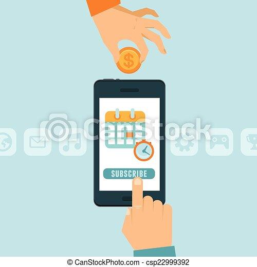 Subscription business model - csp22999392