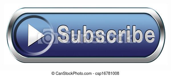 subscription button - csp16781008