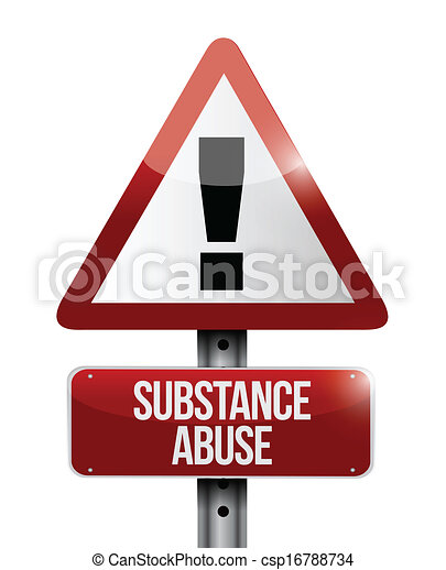 substance abuse warning road sign illustration - csp16788734