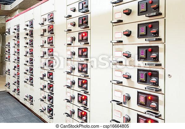 substation, poder, energia, elétrico, distribuição, plant. - csp16664805
