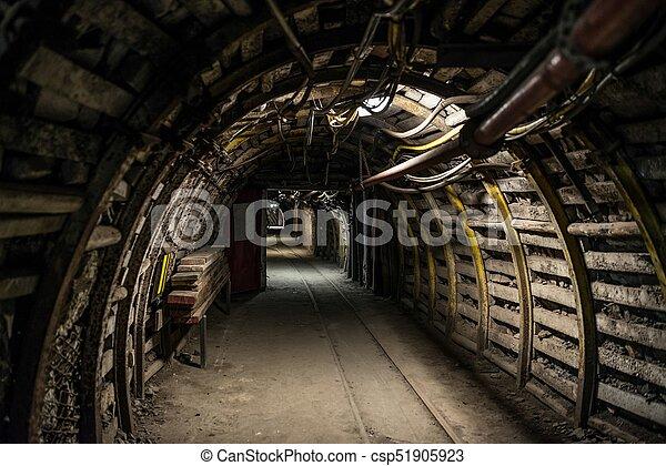 subterrâneo, carvão, túnel, mina - csp51905923