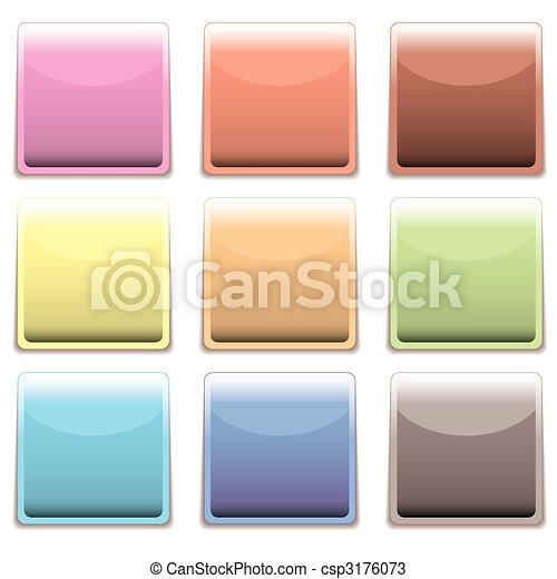 subtle square plastic web icon - csp3176073