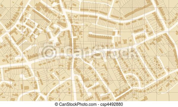 Suburb map - csp4492880