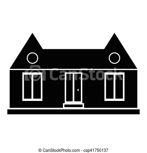 Suburban american house icon, simple style - csp41750137