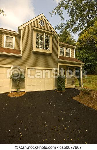 suburban condominium exterior - csp0877967