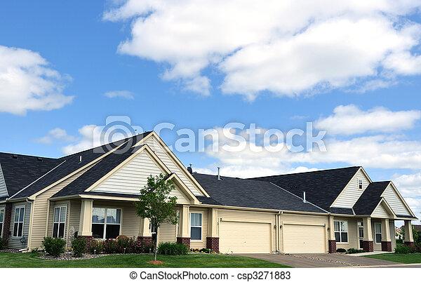 Suburban Duplex Homes - csp3271883